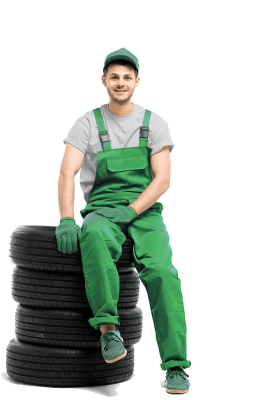 2 tire-serviceman-isolated-on-white-background-PK3Y4WV